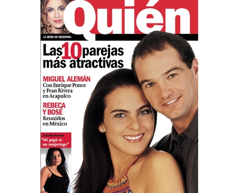 Luis García y Kate del Castillo en portada de la revista Quién
