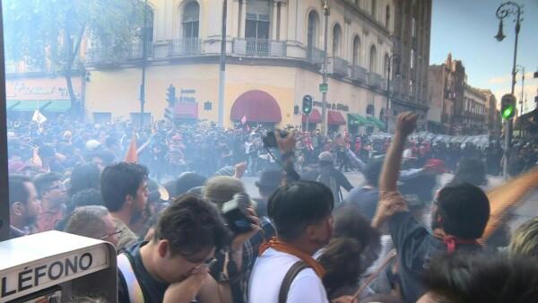 Así se vivieron las protestas en memoria de la masacre de Tlatelolco en 1968