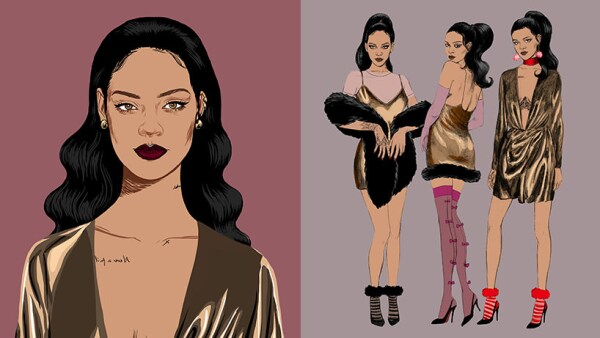 Rihanna Stance Holiday