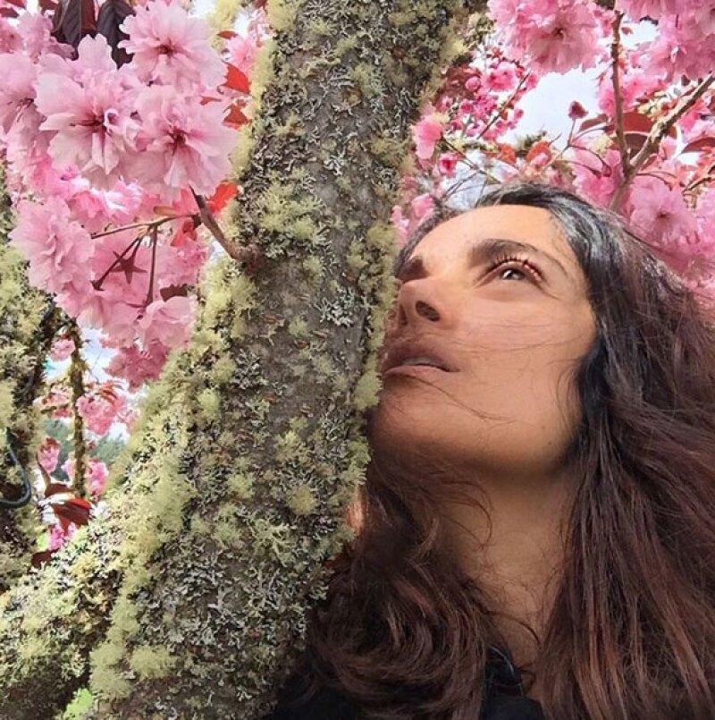Al natural, así presume su belleza la actriz en Instagram.