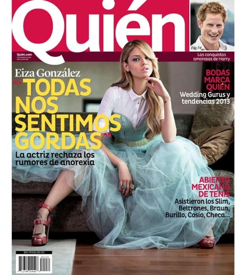 En entrevista para la revista Quién la actriz habla sobre su supuesta anorexia, las cirugías, defectos y nos dice quién le exige la perfección.