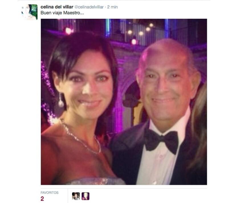 Celina del Villar compartió una foto con el diseñador.