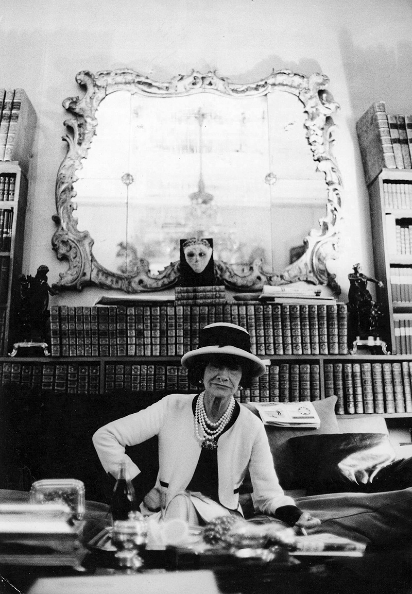 COCO CHANEL AT HER PRIVATE APARTMENT, FRANCE - 1964
