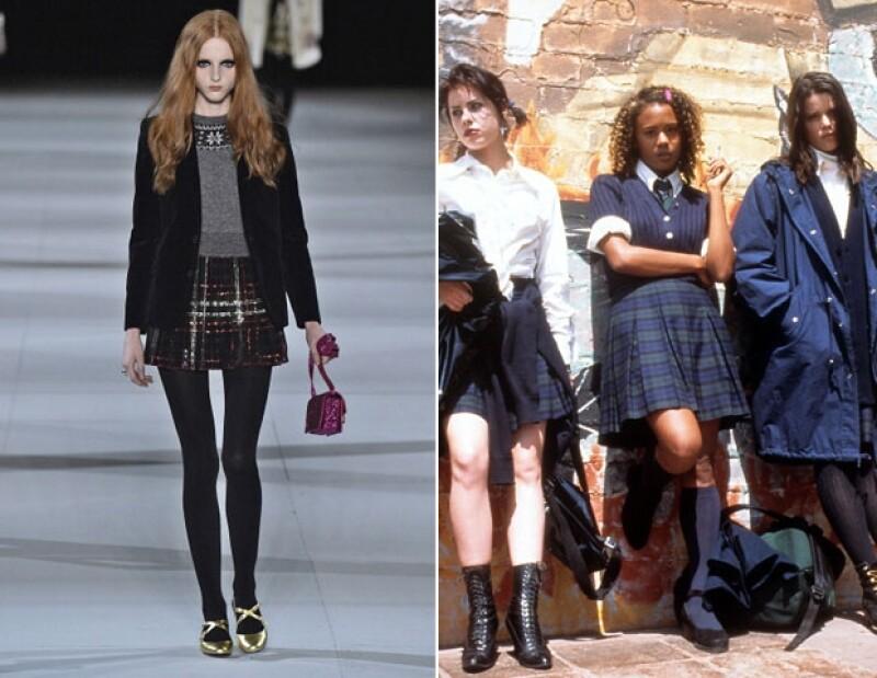 Las faldas tableadas y los sacos negros jamás pasarán de moda, seas una joven bruja o no.