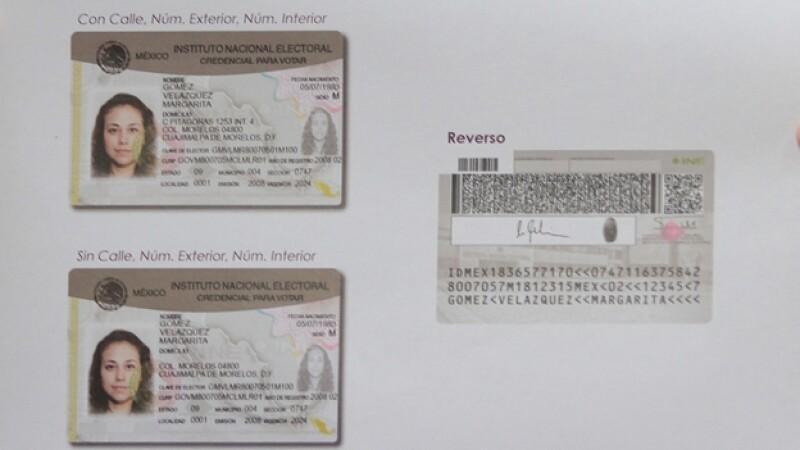 El nuevo formato de la credencial para votar que se utilizará para los comicios en México