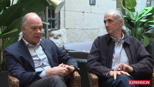 Enrique Krauze y Carlos Oteyza
