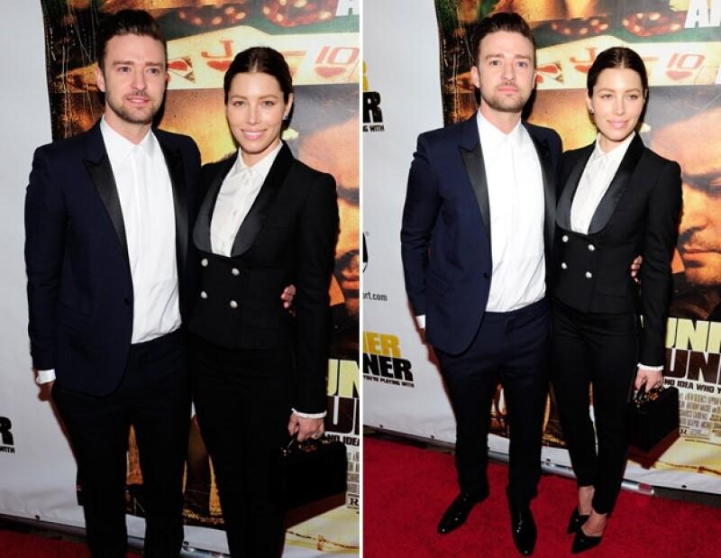 """La pareja acudió a la premiere de la película """"Runner Runner"""" del también cantante, en Las Vegas donde vistieron outfits muy similares. Por cierto, ésta no es la primera vez que Justin hace eso."""