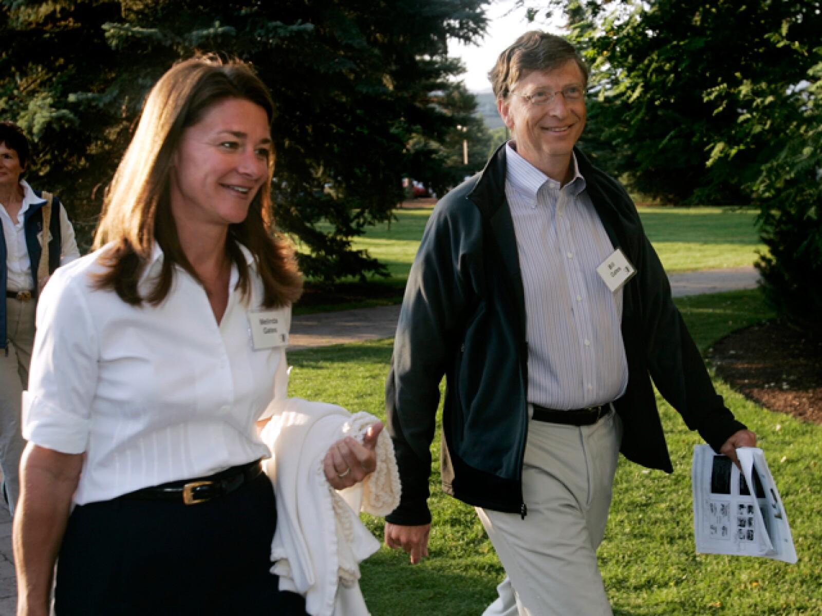 Bill Gates logró construir un imperio de $56 billones de dólares, pero fue su esposa Melinda quien utilizó parte de esa fortuna para armar una fundación pro salud.