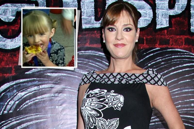 Ella es Natalia la hija de cinco años de la actriz.