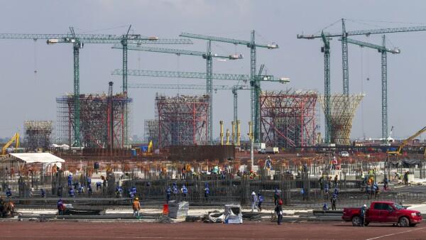 Avance en las obras del Nuevo Aeropuerto de la Ciuadad de Méxic