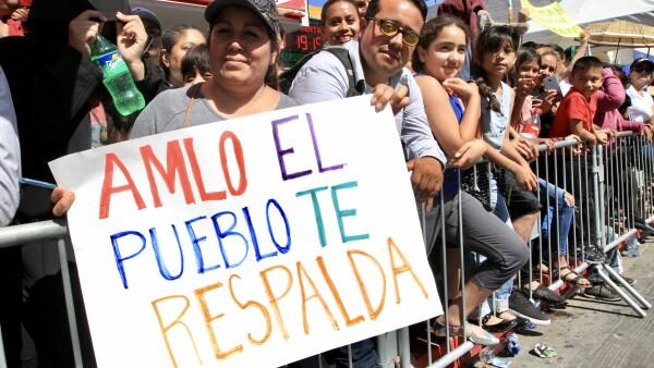 Ciudadanos responden a la convocatoria presidencial en Tijuana