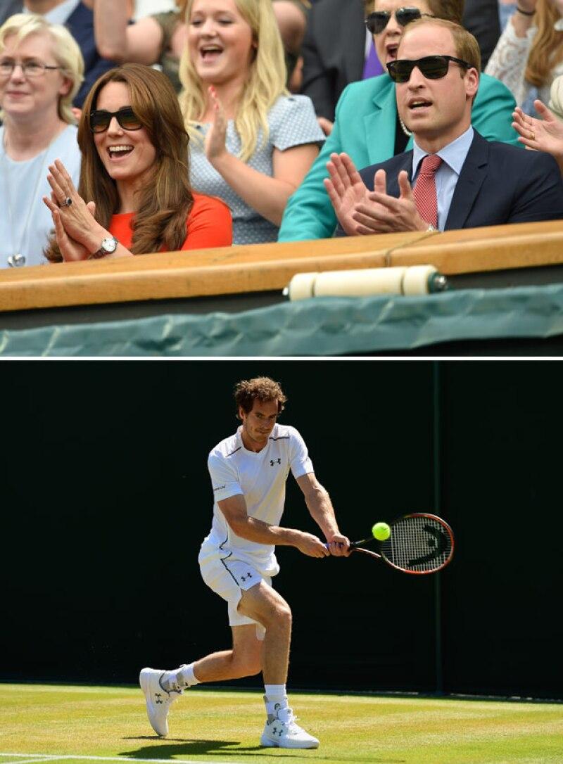 Al término del partido, Kate y William se dispusieron a reunirse con Andy Murray, de quien son grandes admiradores.