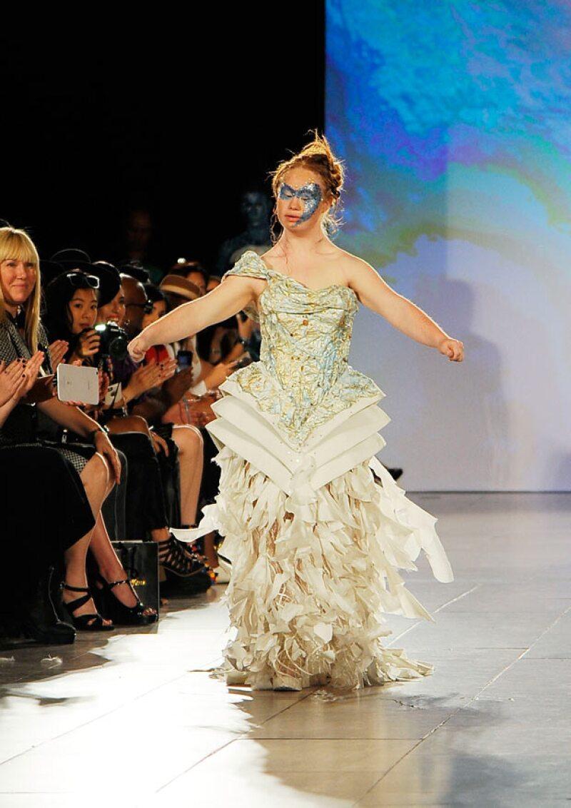 Madeline a sus 18 años lució fabulosa en la pasarela y ya es imagen de varias marcas.