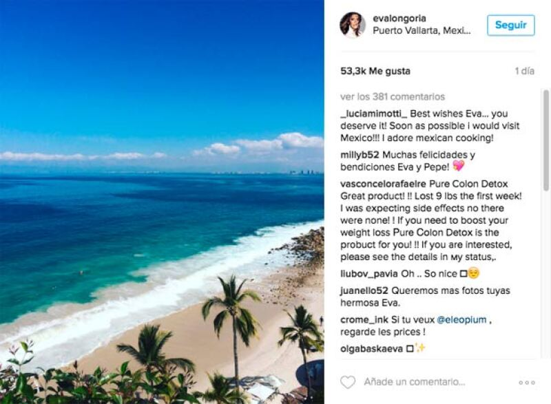 Apenas ayer dio a conocer que se encontraba en Puerto Vallarta.
