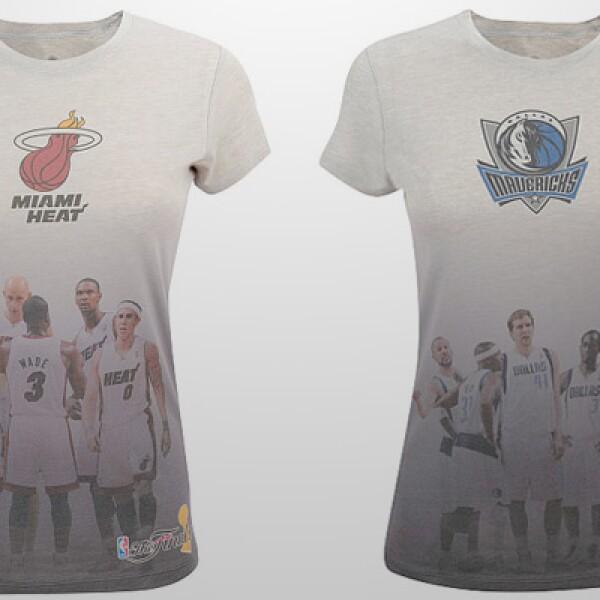 Las mujeres también pueden apoyar a su equipo favorito. Estas 't-shirts' tienen un costo de 29.99 dólares más envío.