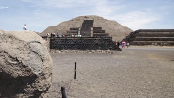 El INAH presenta este análisis de la Pirámide de la Luna de Teotihuacán