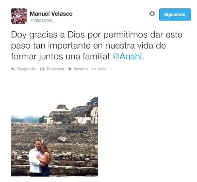 El gobernador de Chiapas también compartió en Twitter su sentir tras haberle dado el anillo a la actriz y cantante hace unos días.