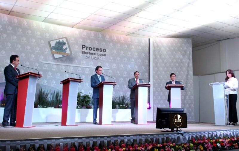 Pese a las descalificaciones, las propuestas llegaron al final de debate entre los candidatos a la gubernatura del estado.