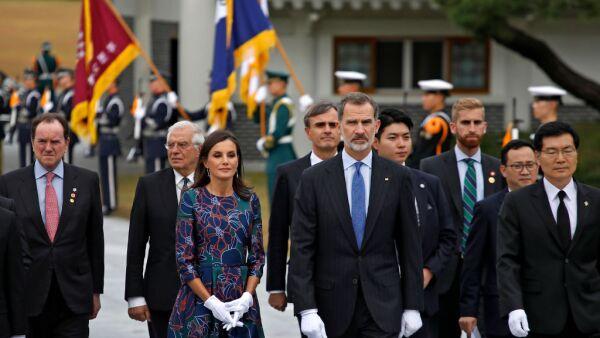 Reina Leitzia y el rey Felipe VI de España