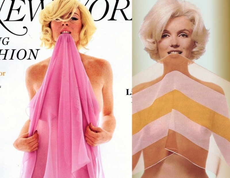 Lindsay Lohan se caracterizó como Marilyn Monroe en una sesión para una revista.