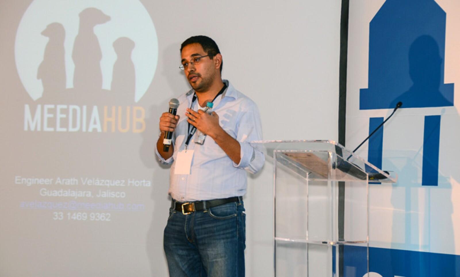 Arath Velázquez presentó su plataforma de participación social que permite a las empresas impulsar campañas digitales.