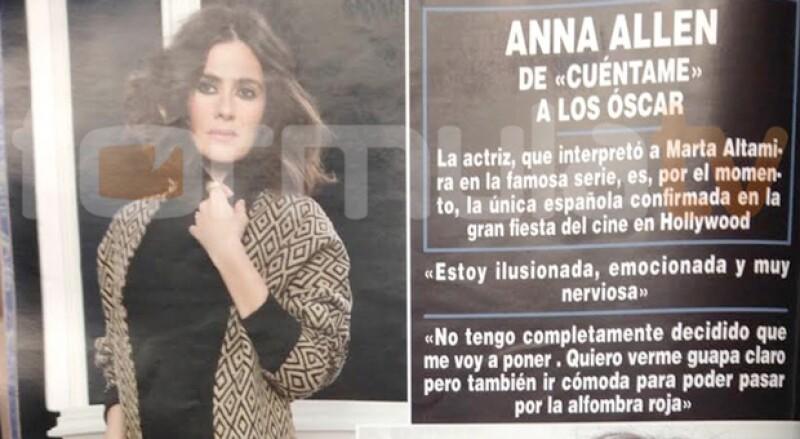 Anna estaba confirmada, por ella misma, como la única española en los Oscar.