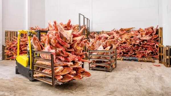 carne de cerdo congelada
