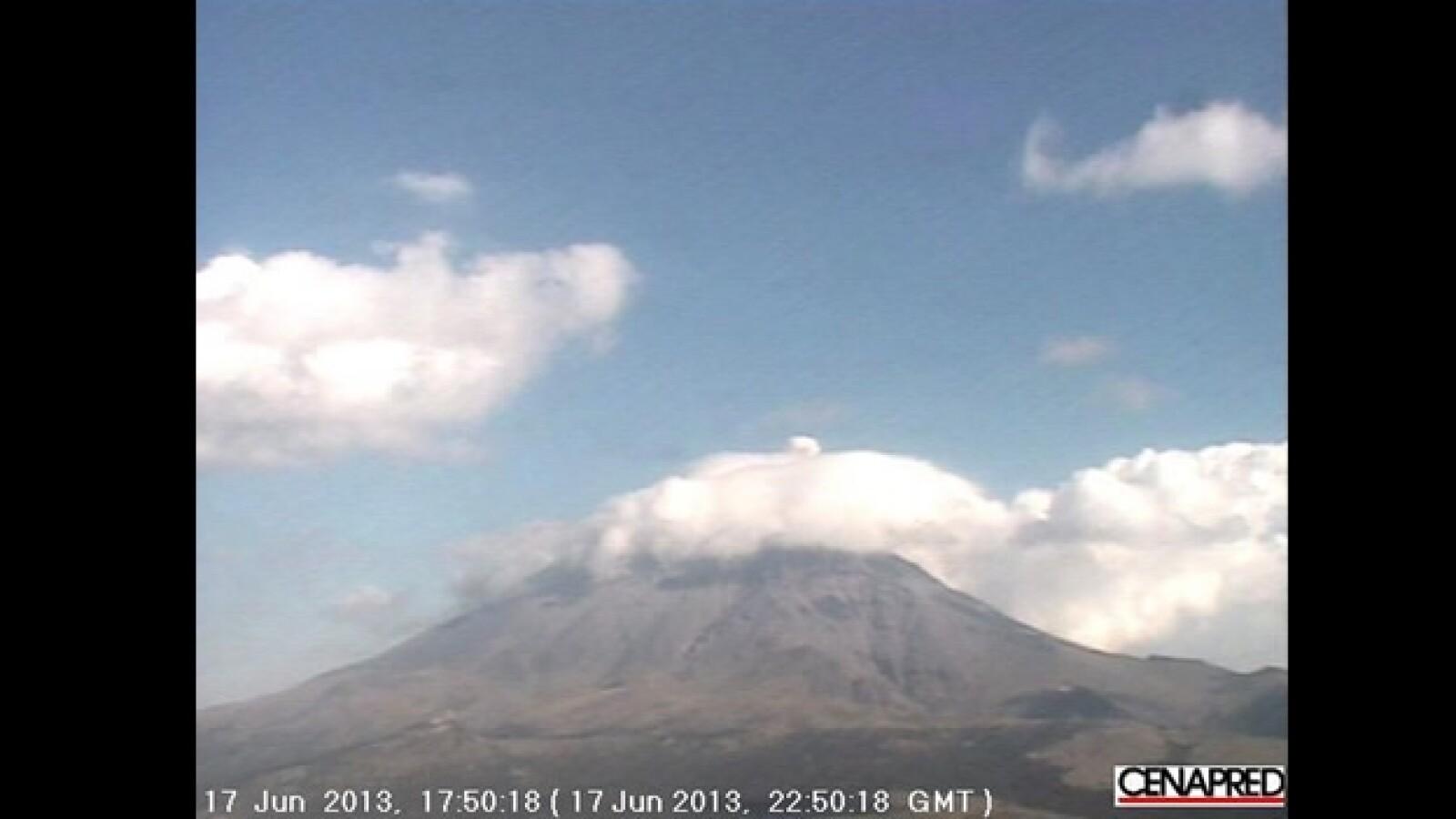 erupción del volcan popocatepetl