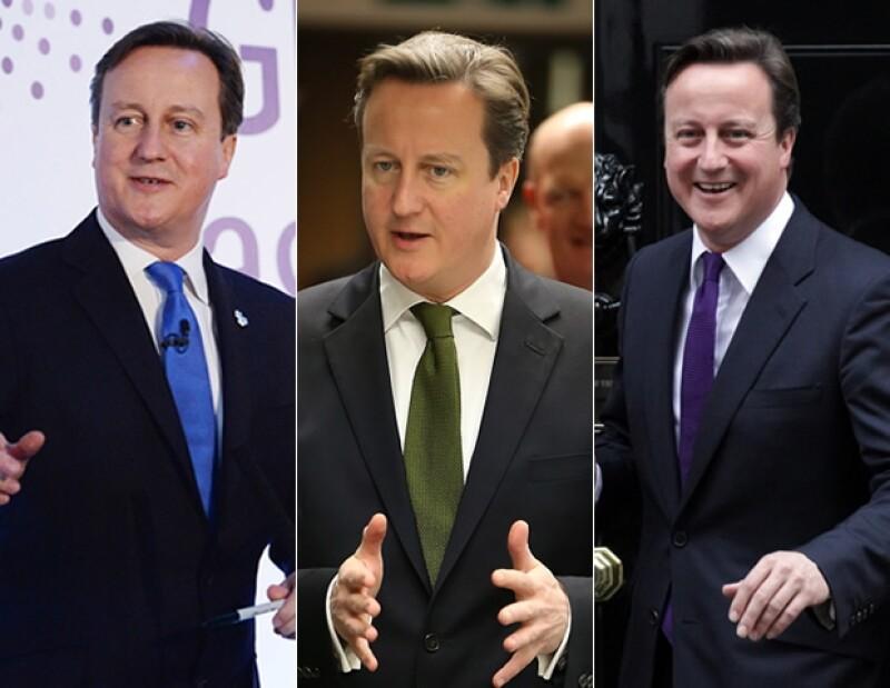 El look de Cameron llama mucho la atención por el uso de corbatas coloridas que hace.