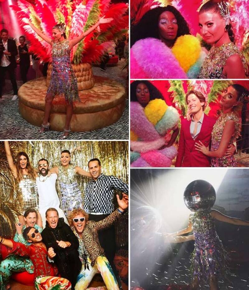 Muy colorida y extravagante, así fue la boda de la stylist y editora de moda.