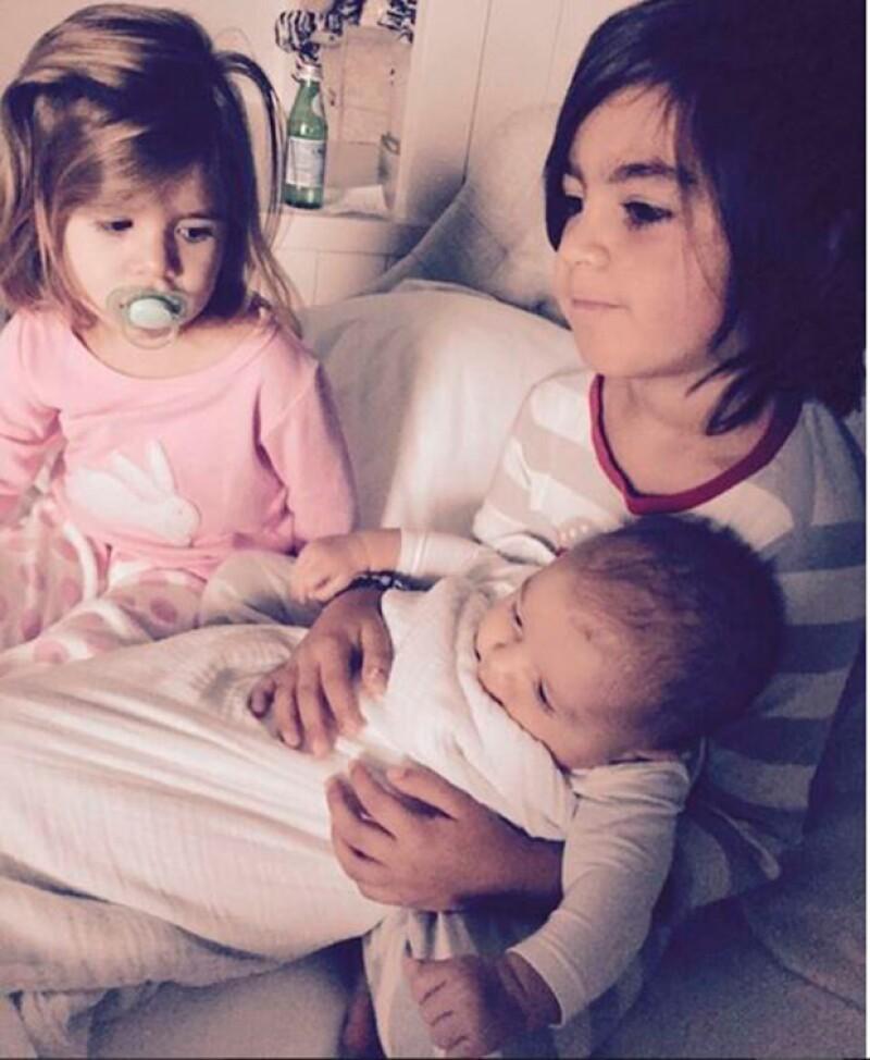 Kourtney agradeció la dicha de ser mamá de Penelope, Mason y Reign.