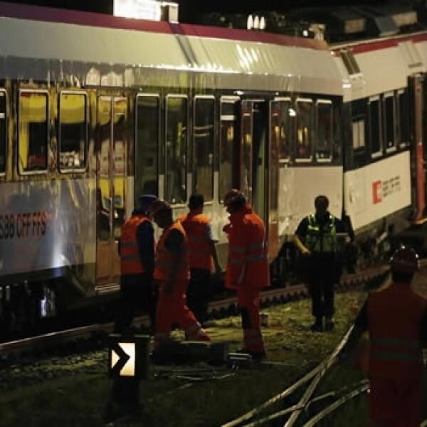 Accidente de trenes en Suiza