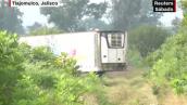 Un camión frigorífico con decenas de cadáveres causa controversia en Jalisco