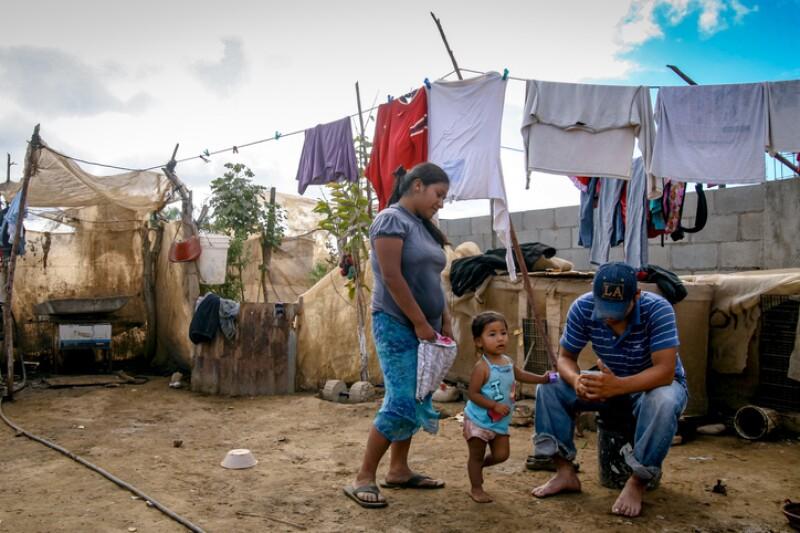 Life condition of seasonal farm worker family in Baja California Mexico