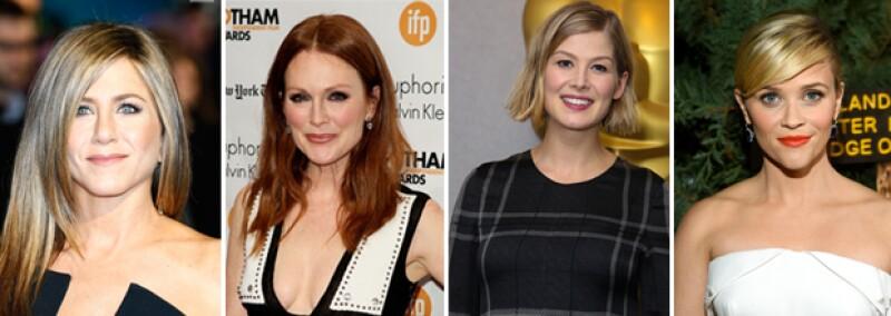 Jennifer Aniston, Julianne Moore, Rosamund Pike y Reese Witherspoon son algunas de las nominadas a Mejor Actriz.