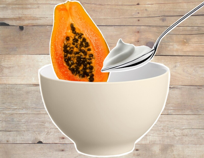 Mascarilla de papaya.