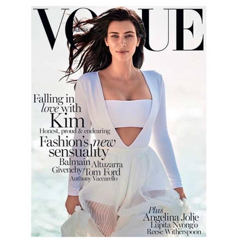 Una vez más Kim se mantiene en el radar de las portadas de revista, pero ahora es para la edición de Australia de Vogue.