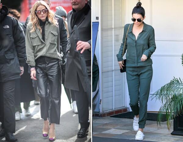 Como Olivia o como Kendall, las piezas en verde militar están muy in.