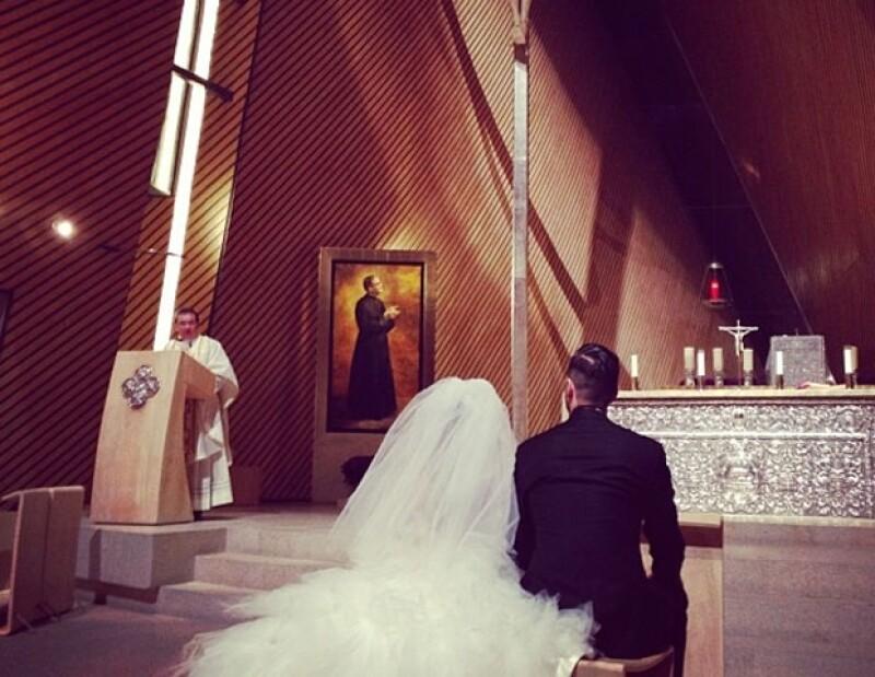 Josemaría compartió el emotivo momento de la boda de su hermano.