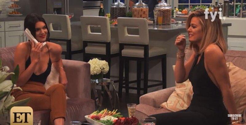 En una broma telefónica durante el nuevo programa de Khloé, la modelo hace una fuerte revelación a su hermana mayor, aunque ésta se notó más preocupada por ella misma.