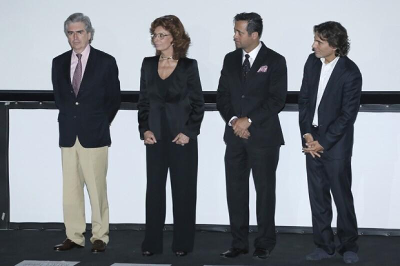 Rafael Tovar y de Teresa, Sophia Loren, Bobby Slim y Carlo Ponti.