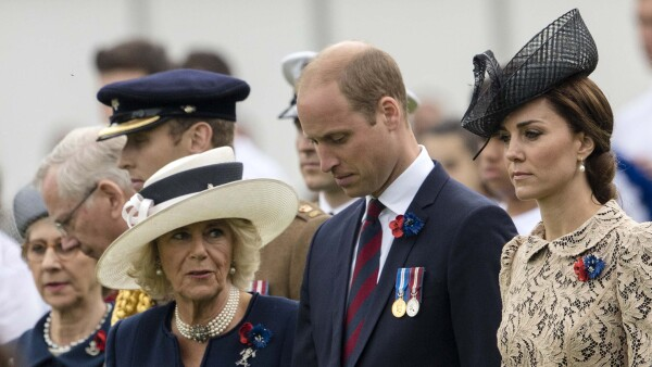 Kate Middleton, príncipe William y Camila