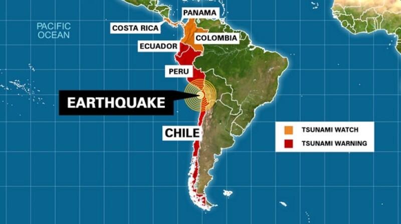 Este martes por la noche un sismo afectó la zona norte del país, ocasionando diversos daños e incluso alerta de Tsunami en este y otros países.