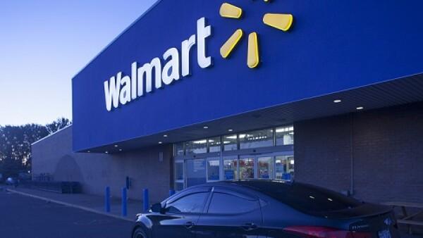 fachada de tienda Walmart