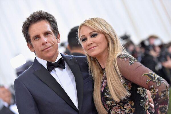 Ben Stiller y Christine Taylor en Met Gala