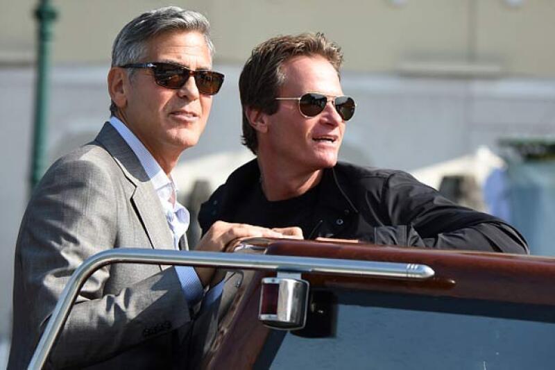 Rande estuvo lado a lado de George durante su boda con Amal en Venecia.