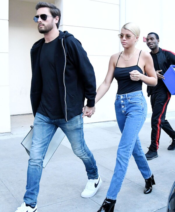 Sofia Richie and Scott Disick out and about, Los Angeles, USA - 13 Dec 2017