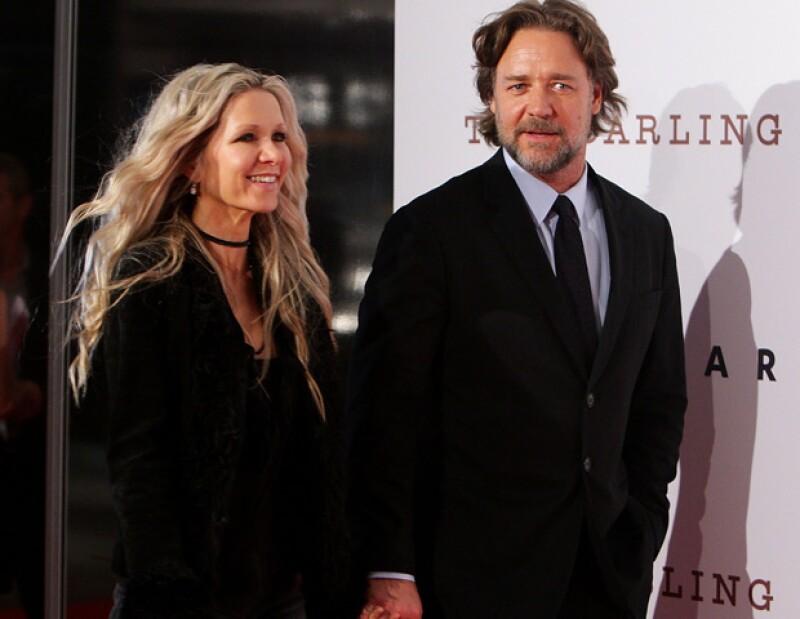 Russell Crowe y Danielle Spencer que tienen dos hijos  en común (Charles y Tennyson de ocho años y seis respectivamente) se separaron en términos amistosos.