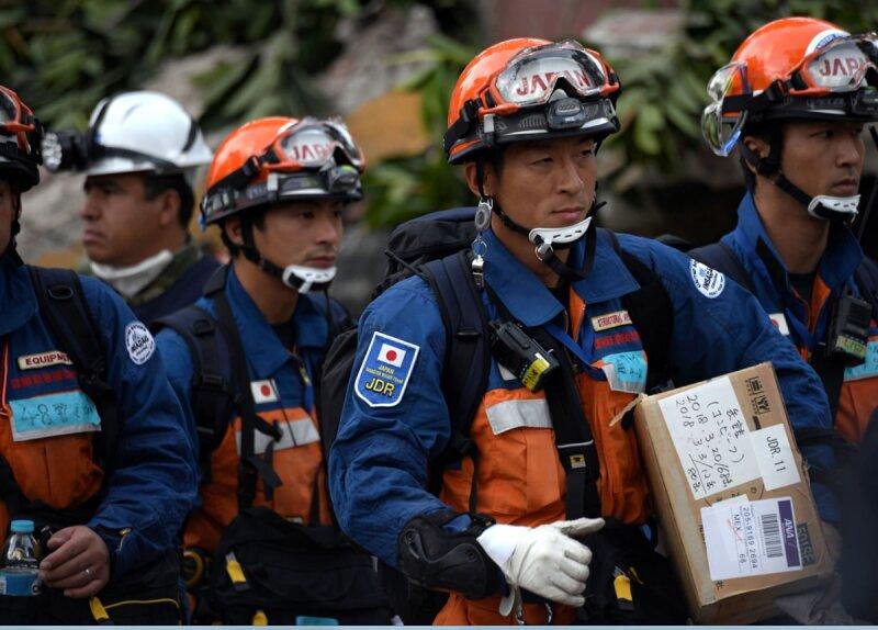 El equipo japonés en acción