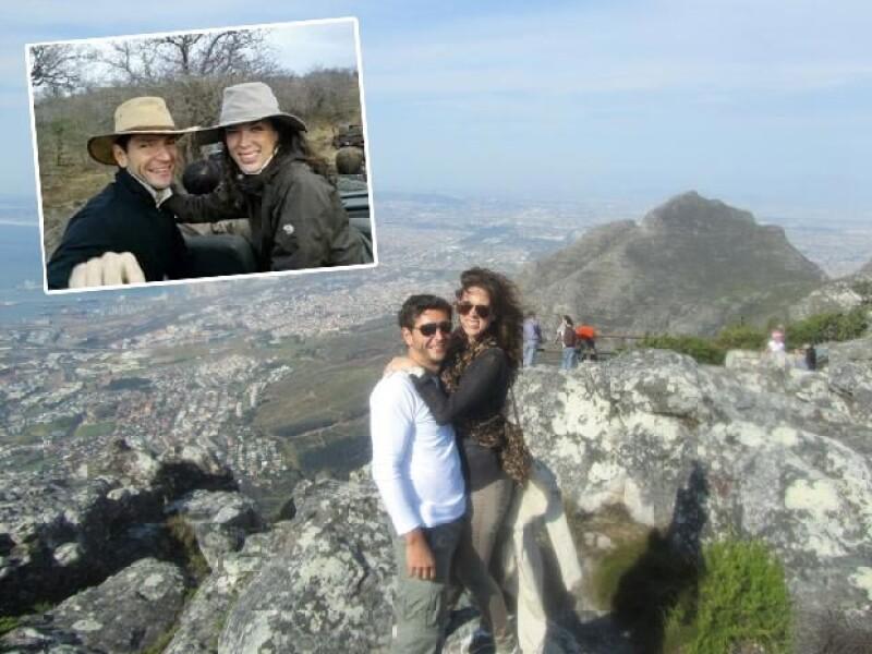 Jacky Bracamontes y el empresario Martin Fuentes disfrutaron de Sudáfrica.